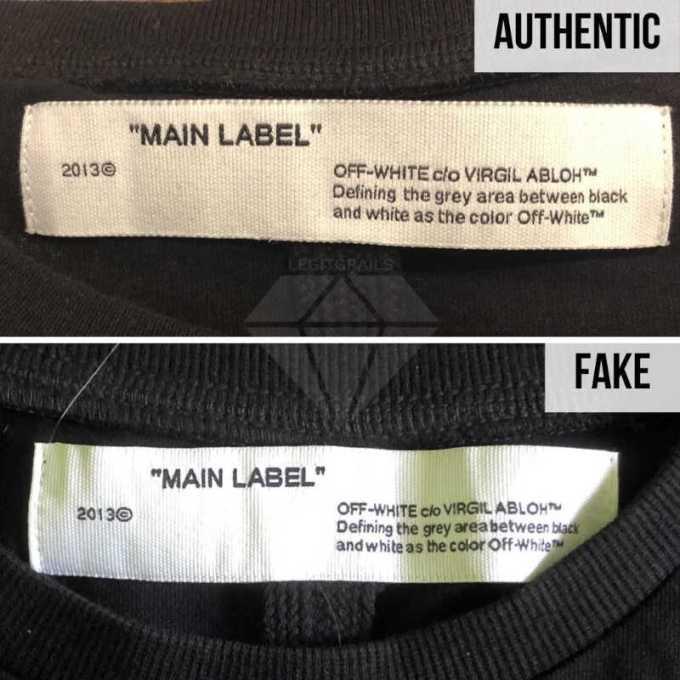 tag pada leher off white