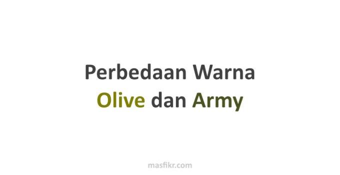 perbedaan warna olive dan army
