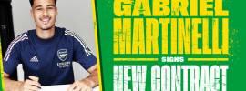 Mshambuliaji kinda wa Arsenal, Gabriel Martinelli amesaini mkataba mpya na wa muda mrefu ili kuendelea kuichezea Arsenal.