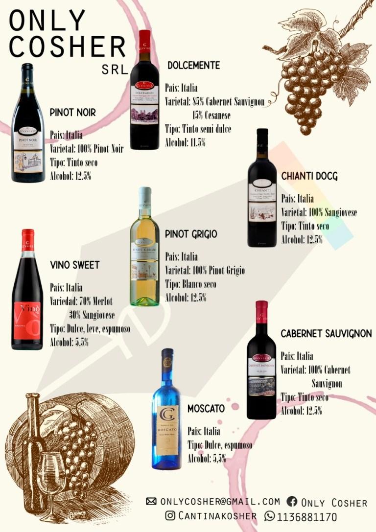 Los mejores vinos para Sucot. Hace click y pedilos