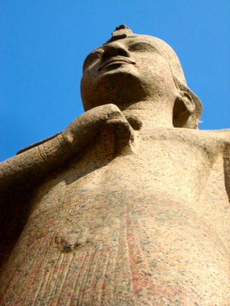 Looking up at Egypt