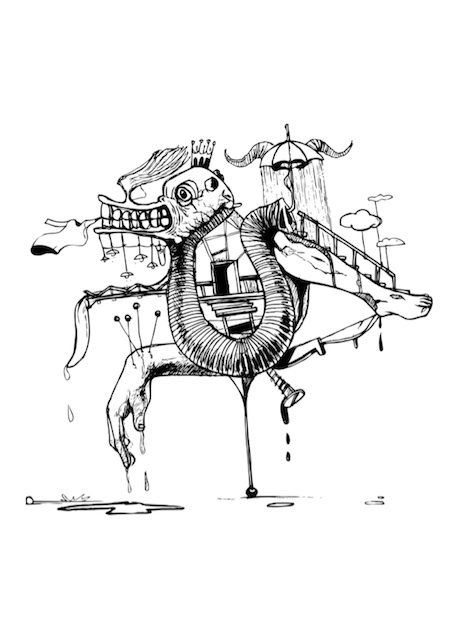 3. Tamer Elsawy, Losing My Virginity, pencil sketch. Courtesy of the artist.