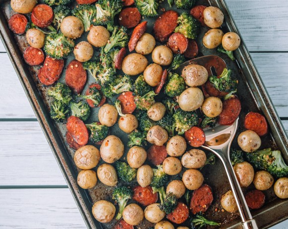 Chicken Sausage, Broccoli, and Potatoes