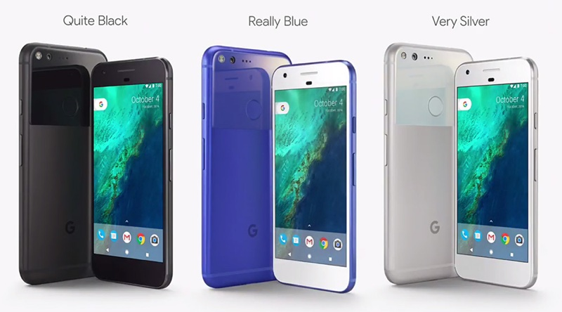 Pixel Colors resize 新款Google手機Pixel 2產品代號曝光:「muskie」與「walleye」