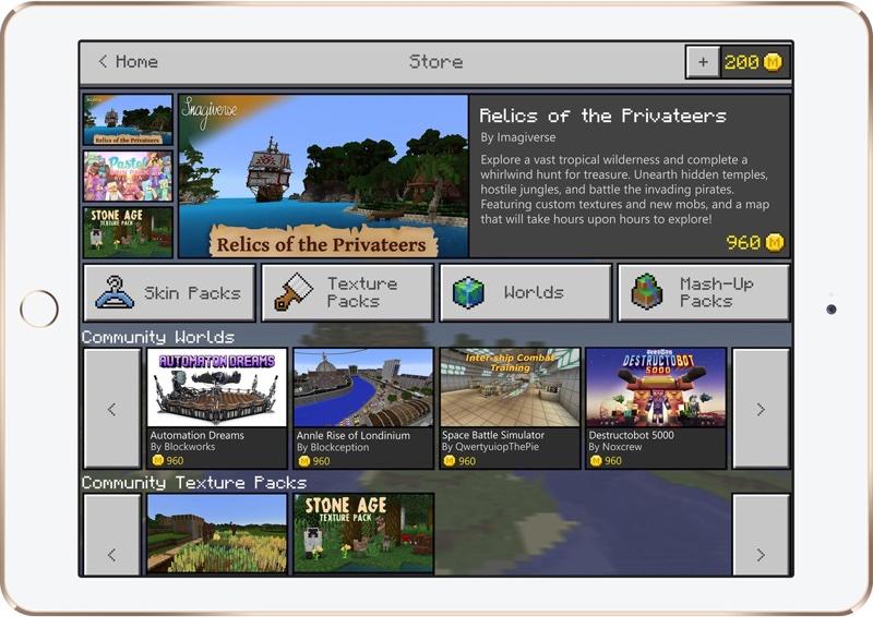 ipad.ef06f5298245 resize 微軟將在《Minecraft》新增商店介面 讓玩家以虛擬貨幣購買自製地圖