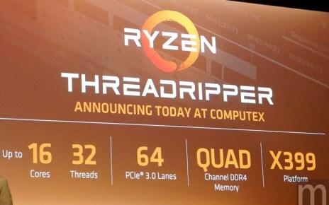 batch  DSC8566 resize AMD Threadripper系列處理器確認8月上市 僅為Intel等級產品一半價格