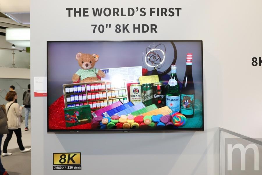 batch IMG 9932 resize 動眼看/以70吋消費級8K電視展示技術之餘,夏普更希望推動8K內容普及