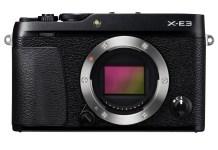x e3 black front 1 富士更新X E3 加入4K錄影功能、藍牙連線等設計
