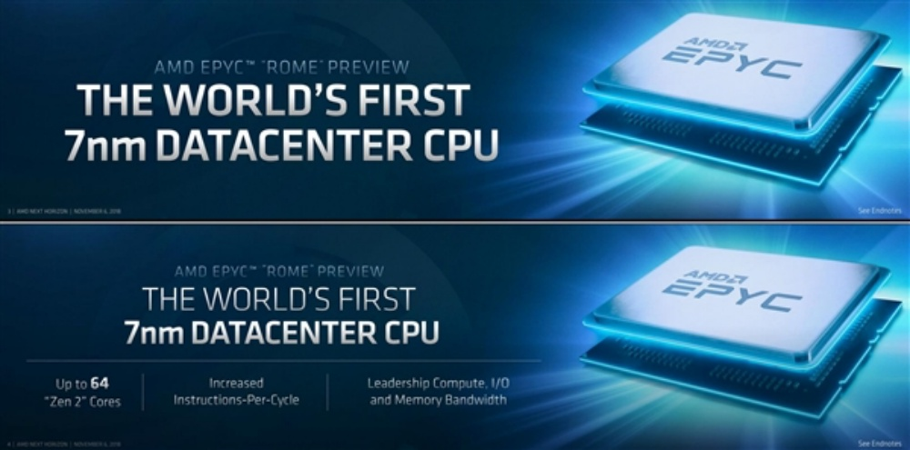 000eb2d327032e0 AMD揭曉旗下首款7nm製程處理器,但主要面向伺服器、高階運算用途