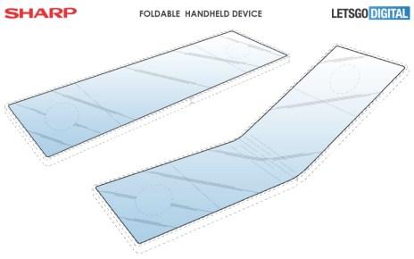 sharp opvouwbare smartphone 採直向凹折使用模式 夏普也申請螢幕可凹折手機設計專利