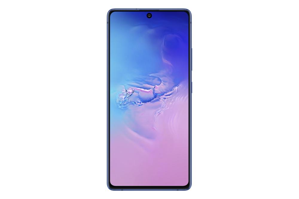 【新聞照片3】Galaxy S10 Lite 絢光藍正面 Galaxy S10 Lite、Galaxy Note 10 Lite同步亮相,確定在CES 2020展出