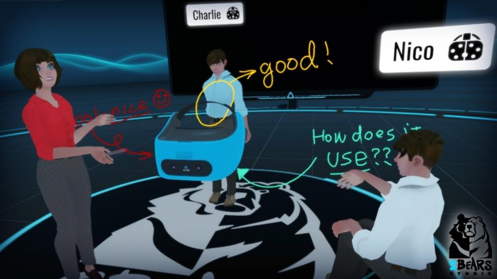 SC08 1024x576 1 HTC在VR環境中「面對面」互動的VIVE Sync功能,未來預期能識別浮空手勢