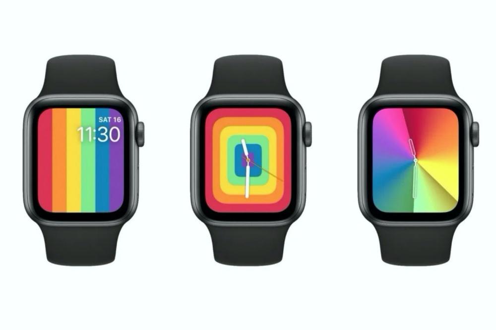 new apple watch rainbow faces side side 蘋果準備在watchOS 6.2.5追加多款全新彩虹錶面