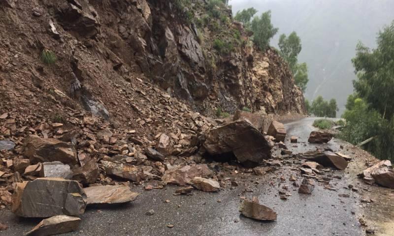 Landslide in Kohistan district