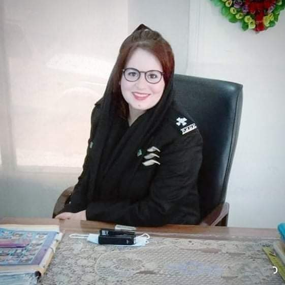 The first woman to be posted as Dilshad Pre SHO of Chitral