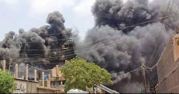 Terrible fire in Karachi, 15 workers killed