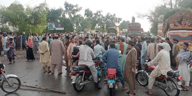 load shedding protest peshawar
