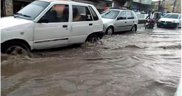 Rain in peshawer