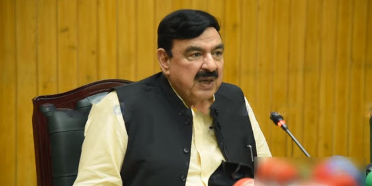 Federal Interior Minister Sheikh Rashid Ahmed