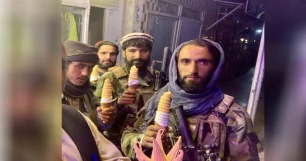 Taliban in ice cream parlor