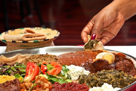 the feast eating with your hands demera ethiopian platter