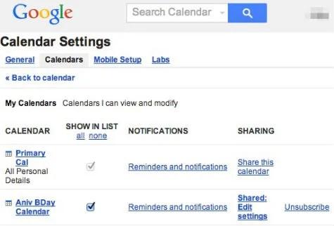 Google Secondary Calendar