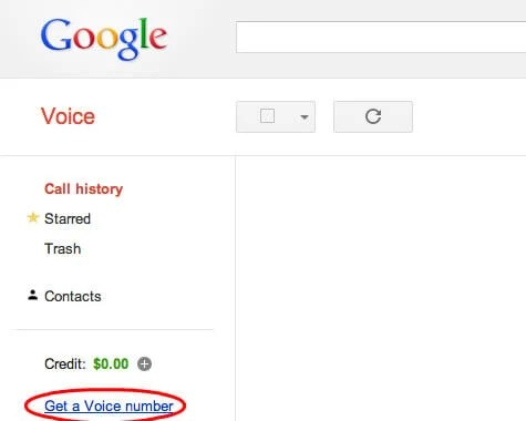 Google Voice Website
