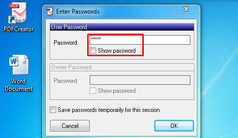 set pdf save password