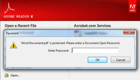 enter password for pdf