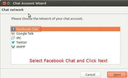 facebook chat thundebird5