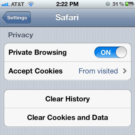 iphone-clear-browsing