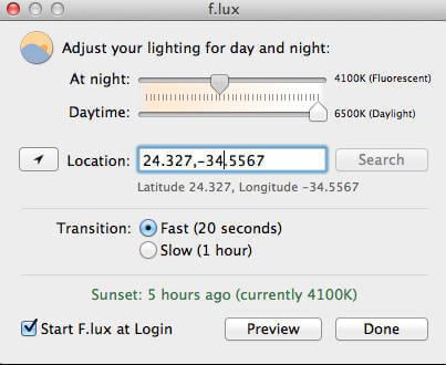 Night Shift Feature Old Mac X