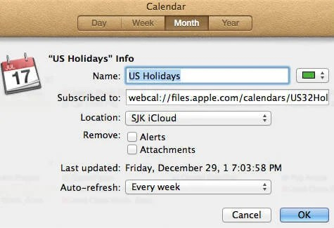 How to Add Country Holiday Calendar in MAC Calendar? | Mashtips