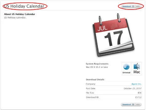 ical us calendar download