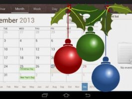 Samsung Android Holiday Calendar