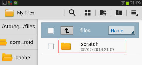 android dropbox scratch folder