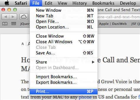 MAC Safari Print