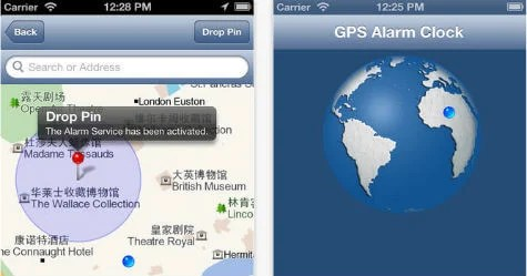 iOS GPS Alarm Clock