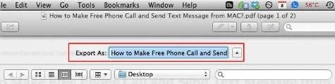 mac pdf export window