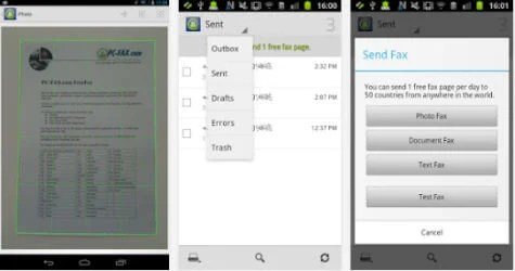 pcfax android app