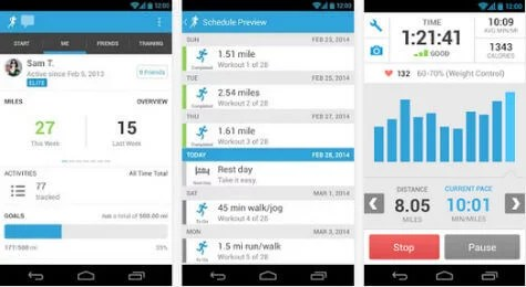 with this app you can get audio updates while you work out about your total mileage calorie count pace speed mileage you can share your fitness