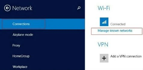 Win8 Network connections