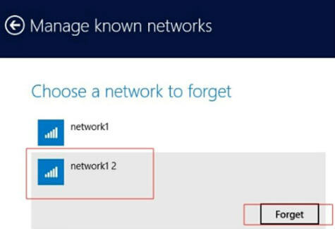 Win8 known networks