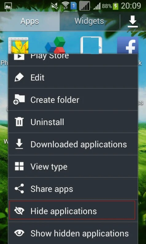 hide app icons android