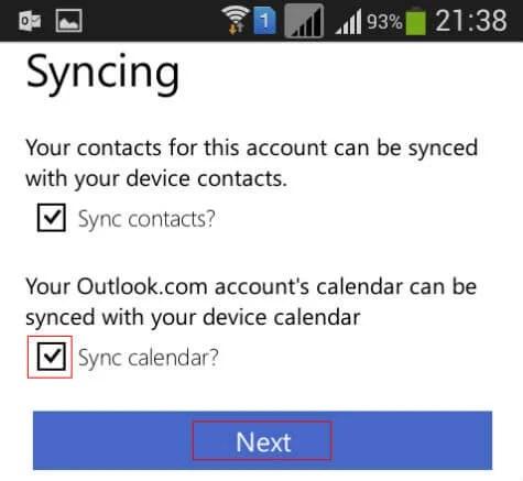 Sync Google Calendar in Windows Calendar App using Outlook