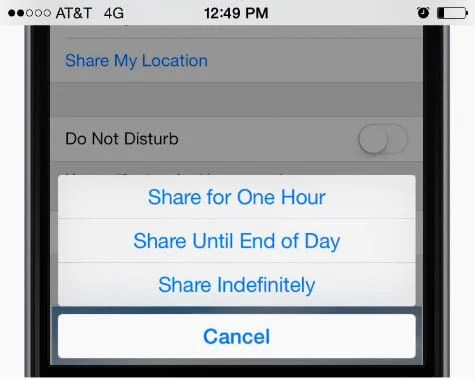 ios share location