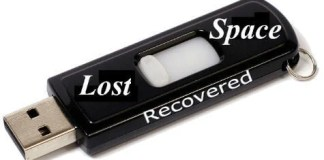 usb lost space recovered