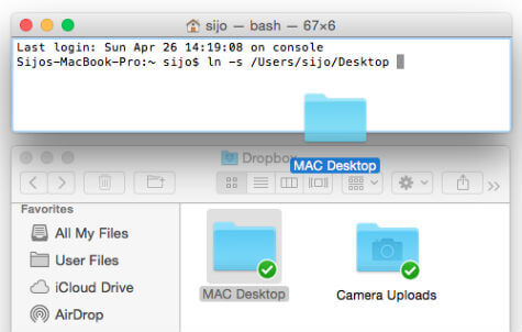 How to Sync MAC Desktop & Documents with Dropbox Realtime