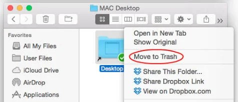 remove mac dropbox folder sync