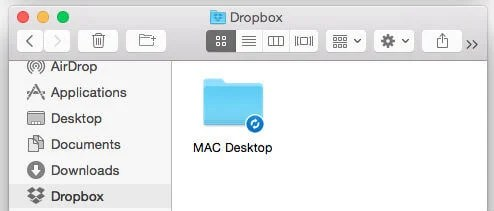sync desktop folder